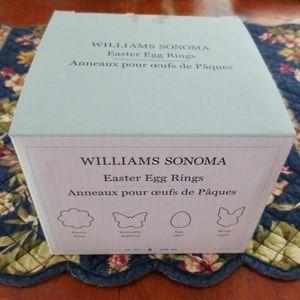 NEW Williams Sonoma Set of 4 EGG RINGS Easter